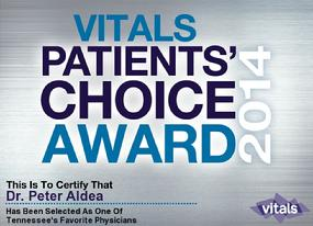 Patients' Choice Award by Vitals 2014